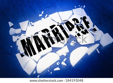 Breaking marriage - stock photo