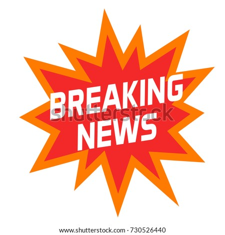 Breaking News Icon Or Symbol Isolated On White Background Modern Creative Headline Badge Label