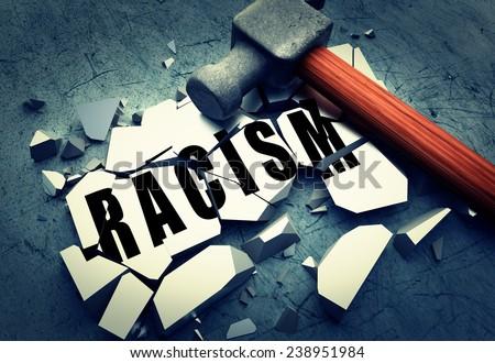 Breaking Racism - stock photo
