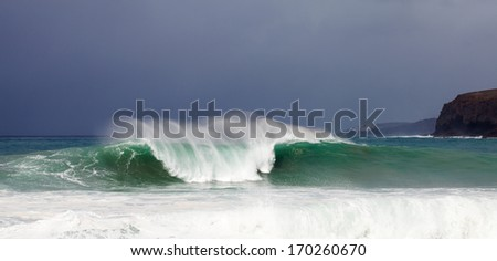 breaking waves - stock photo