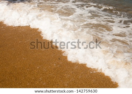 Breaking waves in the beach