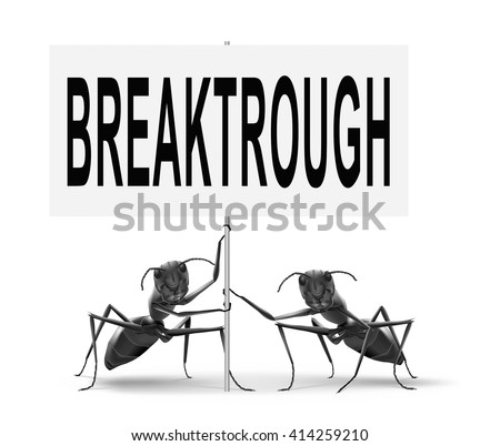 Breakthrough an important discovery and a big step forward, a quantum leap.