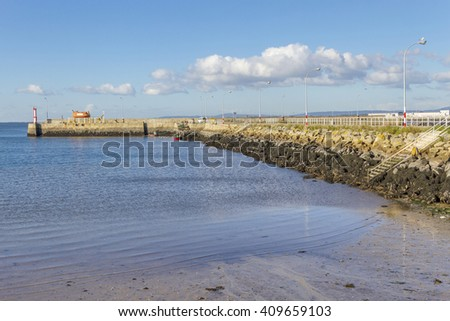 Breakwater of Cambados fishing port