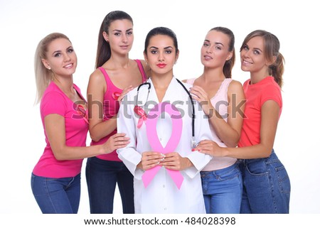 breast cancer awareness health concept.
