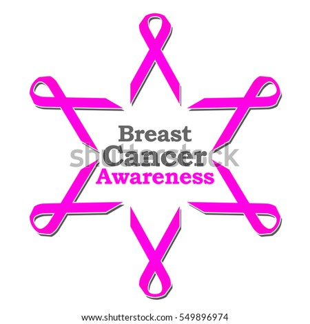 Breast Cancer Awareness Ribbon Circle