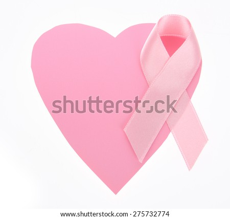 Breast Cancer Awareness ribbon on heart