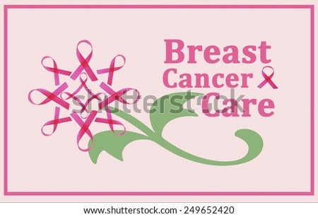 Breast Cancer Care poster - stock photo