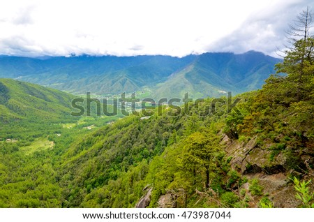 Breathtaking Landscapes of High Mountains in Bhutan