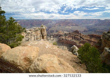 Breathtaking scenic view of south rim of Grand Canyon National Park, Arizona