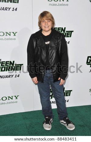 "Brecken Palmer at the Los Angeles premiere of his new movie ""The Green Hornet"" at Grauman's Chinese Theatre, Hollywood. January 10, 2011  Los Angeles, CA Picture: Paul Smith / Featureflash"