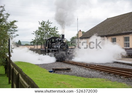 Brecon,Wales - September 1, 2015: Brecon Mountain Railway,Wales,UK