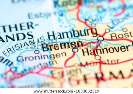 bremen germany on a map