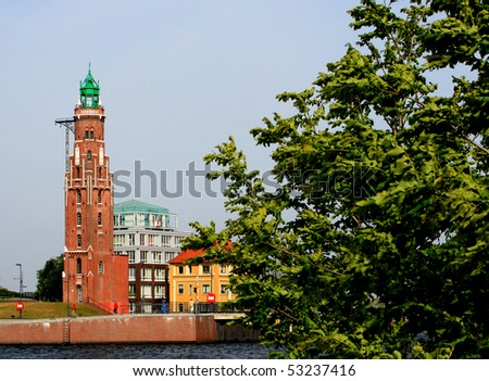 Bremerhaven Lighthouse - stock photo