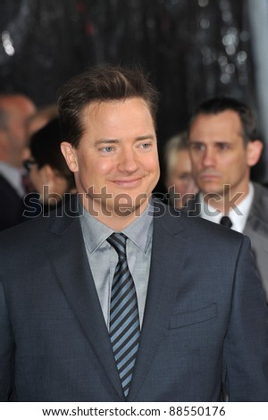 "Brendan Fraser at the premiere of his new movie ""Extraordinary Measures"" at Grauman's Chinese Theatre, Hollywood. January 19, 2010  Los Angeles, CA Picture: Paul Smith / Featureflash"