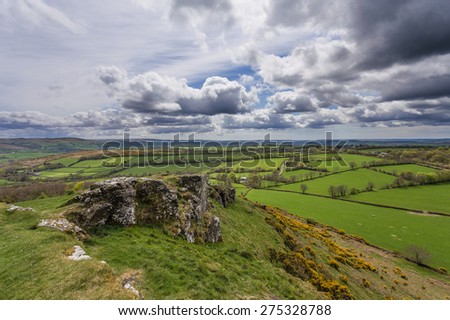 Brent Tor on the Western Edge of Dartmoor National Park in Devon, UK. - stock photo