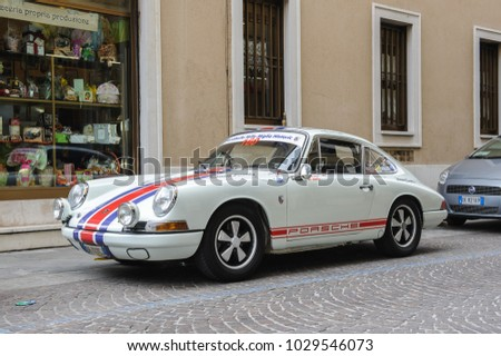 BRESCIA, ITALY - MARCH 21, 2015: Retro cars on the streets of  Brescia