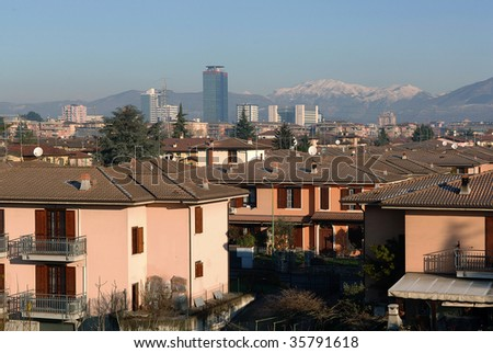 Brescia,Lombardy,Italy,a residential neighborhood with houses