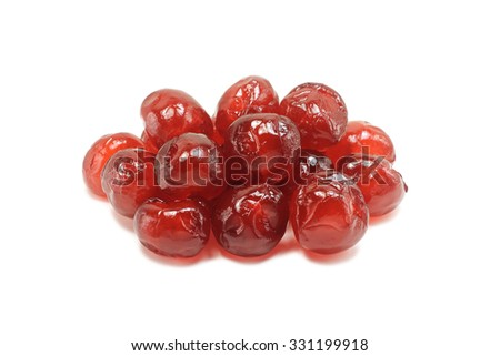 brewed cherries on a white background