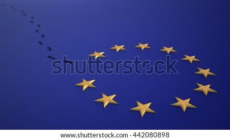 Brexit - british referendum to leave the EU. 3D illustration - stock photo