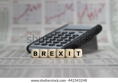 Brexit decision - stock photo