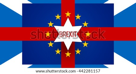 Brexit Northern Ireland Europe Scotland background Flags