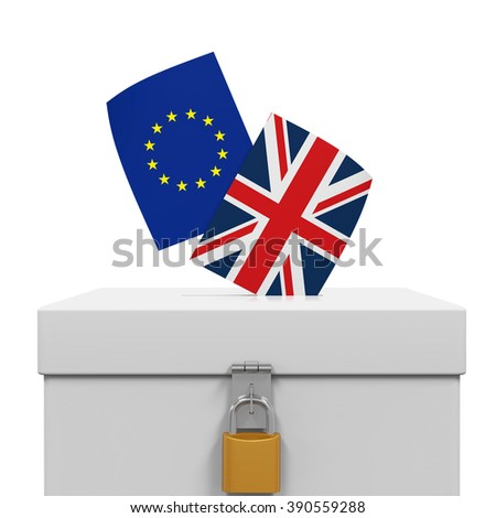 Brexit Referendum Illustration - stock photo