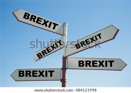 BREXIT SIGN POST