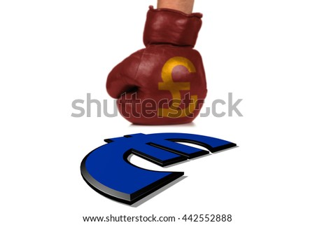 Brexit Symbol of the Fight between the Currencies - stock photo