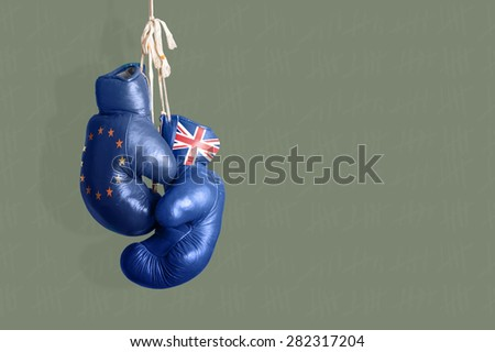 Brexit Symbol of the Referendum UK vs EU - stock photo