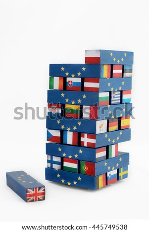 Brexit tumble tower