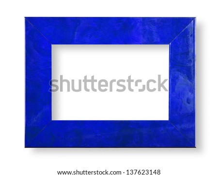 Briair blue frame on white with shadow - stock photo