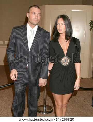 Brian Austin Green  & Megan Fox Beverly Hills 90210 and Melrose Place DVD Season 1 Launch Party Beverly Hilton Hotel Beverly Hills,  CA November 3, 2006 - stock photo
