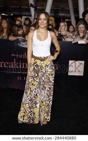 Briana Evigan at the Los Angeles premiere of 'The Twilight Saga: Breaking Dawn Part 1' held at the Nokia Theatre L.A. Live in Los Angeles on November 14, 2011. - stock photo