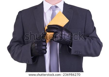 Bribery concept. - stock photo
