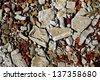 Brick and concrete ruins - stock photo