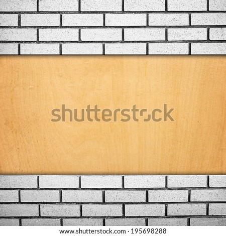 brick and wood background