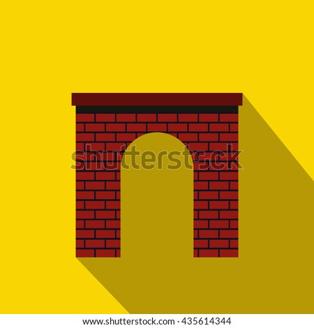 Brick arch icon, flat style - stock photo