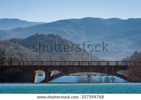 Brick bridge - stock photo