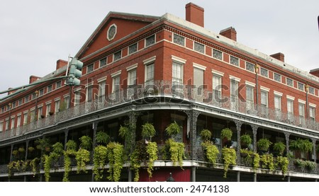 Brick Building in Traditional French Quarter Style