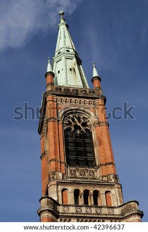 Brick church in Dusseldorf ,Germany. - stock photo