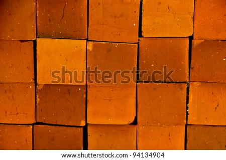 Brick clay is a square shape for background. - stock photo