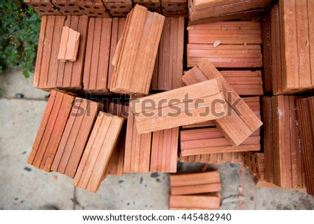 Brick construction home in the city - stock photo