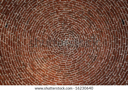 Brick dome ceiling of traditional Arabic home - stock photo