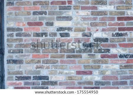 Brick facade - stock photo