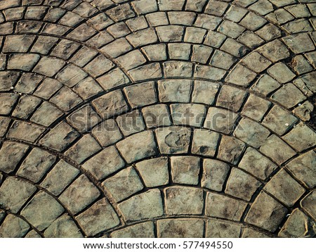 Brick floor arranged as the background.