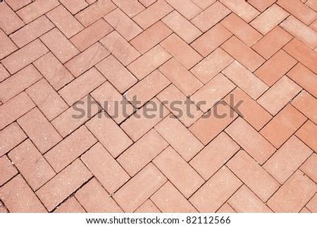 Brick footpath background. - stock photo