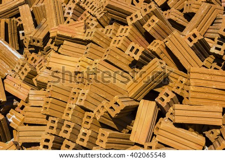 Brick for construction material background