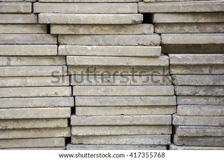 brick for footpath , brick walk way , Brick pavement tile, top v - stock photo