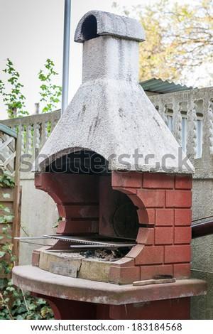 Brick garden barbecue - stock photo