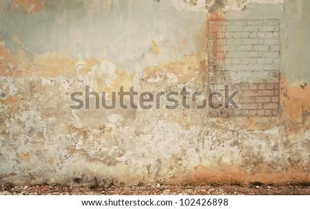 Brick grunge wall background - stock photo
